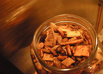 a batch of Chex Party Mix.