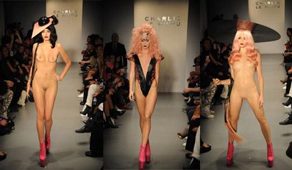 Charlie le mindu fashion show video 34